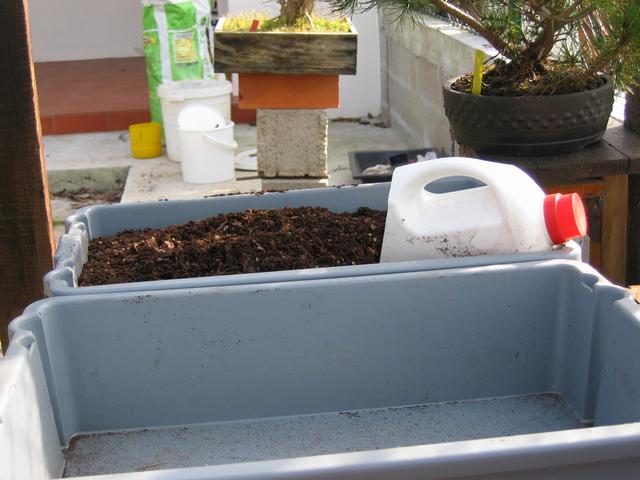 composto necessario para a execução da muda de vaso